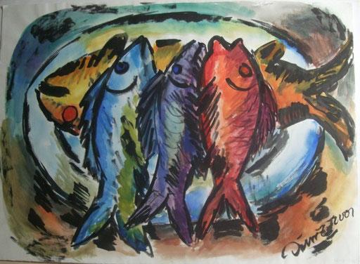 Fische, 50x70cm