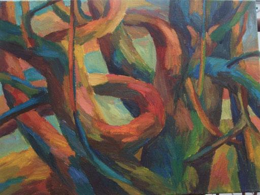 Apfelbaum, 54x73cm