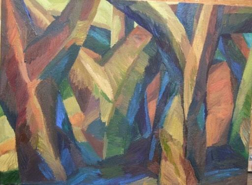 4 Bäume, 80x110cm