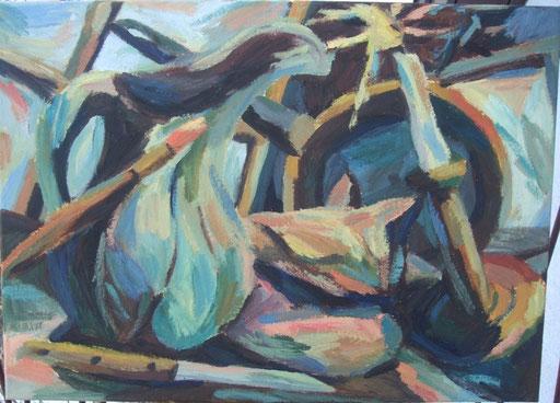 Stilleben mit Meeresschnecke, 50x70cm