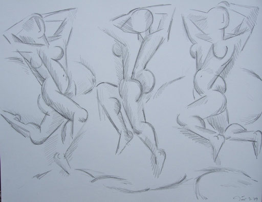 Tanzende, 50x70cm