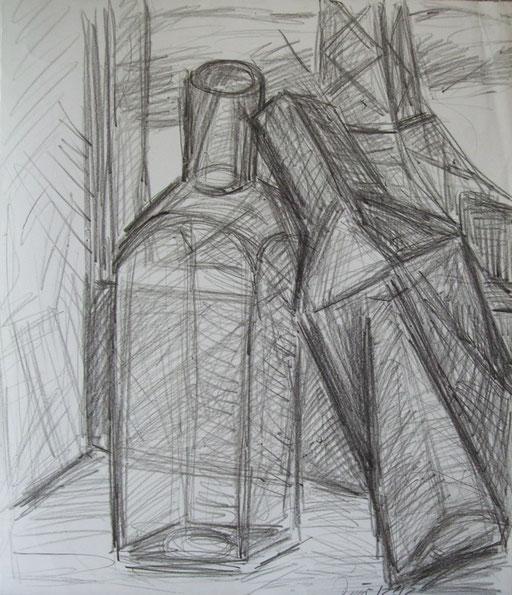 Flaschen, 48x41cm