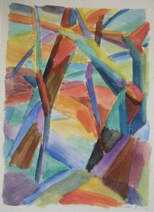 Bäume abstrakt, 36x26cm