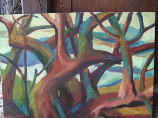 Bäume2, 50x73cm