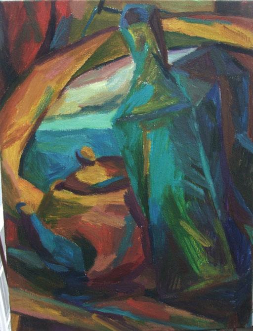 Goldener Spiegel, 73x54cm