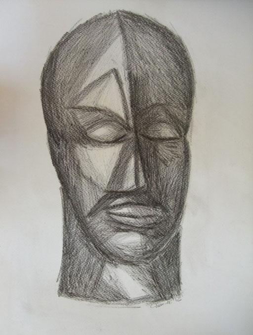 Kopf, 50x70cm