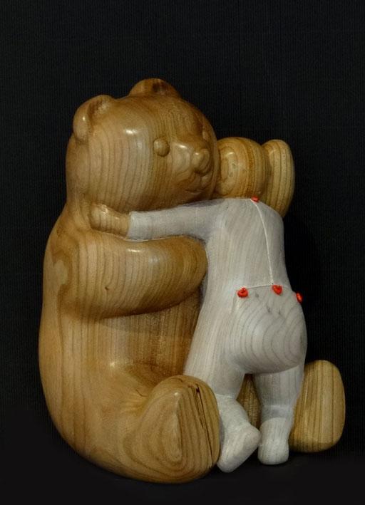 LE DOUDOU - Bois d'orme - 26/18 cm