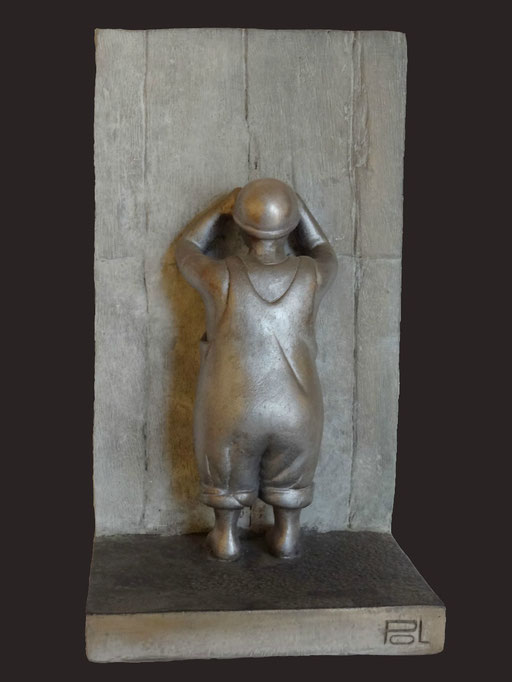 1, 2, 3 SOLEIL  - Sculpture résine - 37 x 20 cm