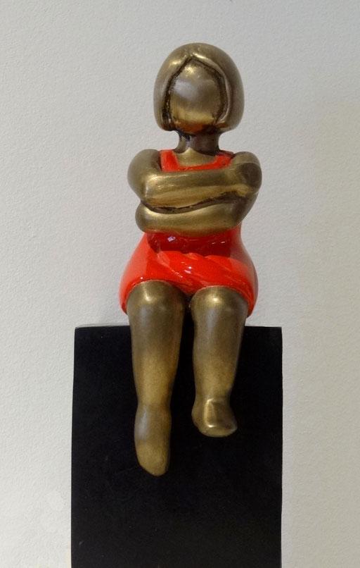 BOUDEUSE SUR CUBE - Bronze 7 et 8/8 en cours de tirage - 800 €