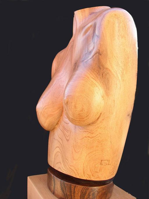 BUSTE FEMME - Sculpture en bois d'orme - non dispo