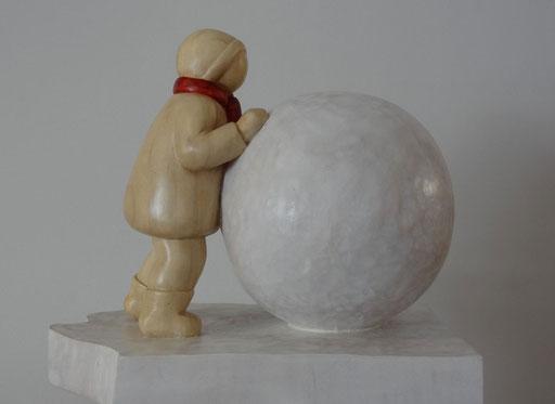 LA BOULE DE NEIGE -  18 X 22 cm - disponible