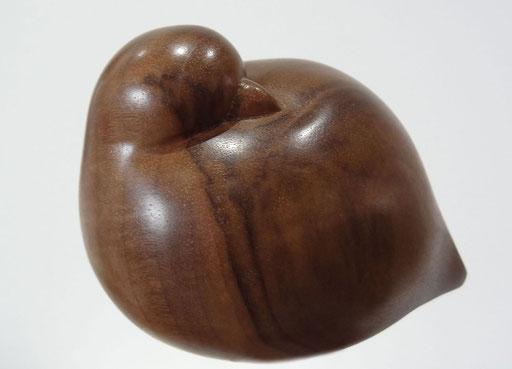 OISEAU BOULE - Noyer  - 8 x 10 cm - disponible