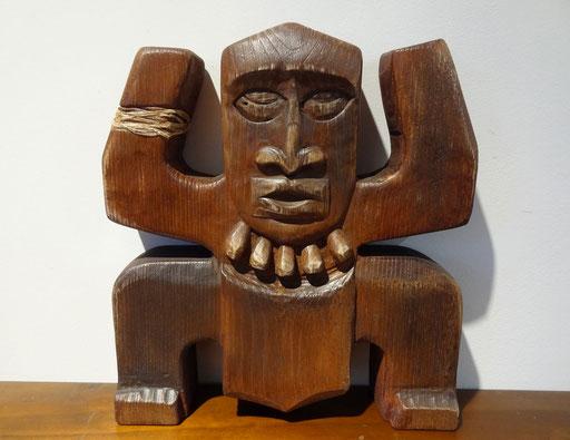 Koh-Lanta - Sculpture bois de châtaignier