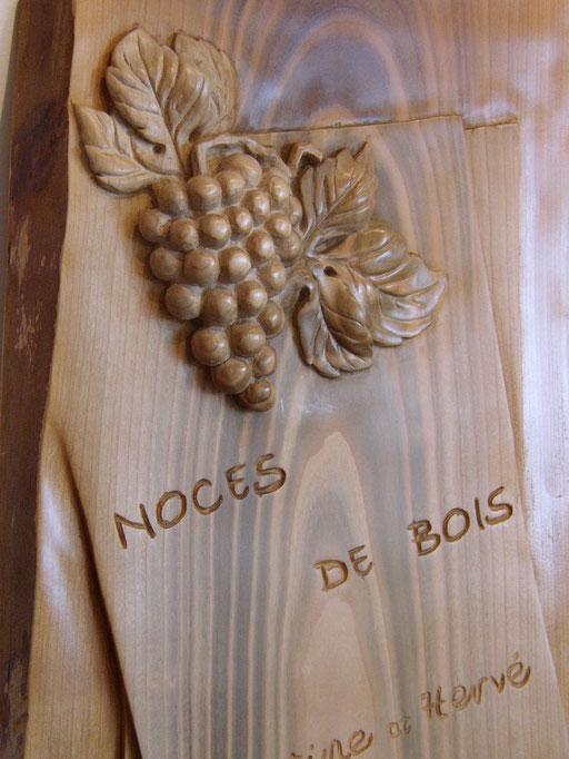 """Bois de merisier """"Noces de bois"""""""