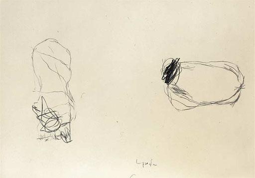 Kohlezeichnung, 1994, 60x80cm