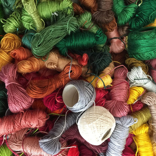 100% perle cotton embroidery threads