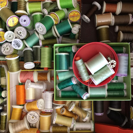 100% cotton sewing threads - primarily for machine sewing, but can be used for hand sewing, too