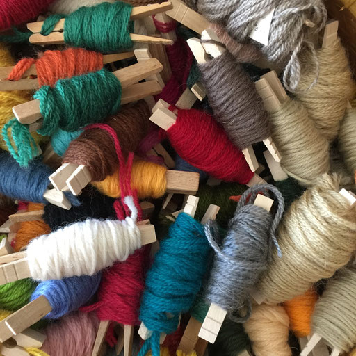 100% wool embroidery threads