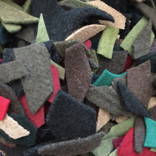 100% wool upcycled felt - made from felting knitted sweaters