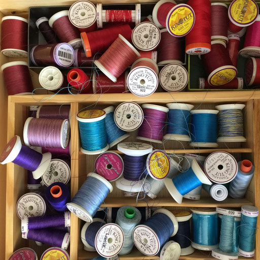 100% cotton sewing threads - like a jewel box