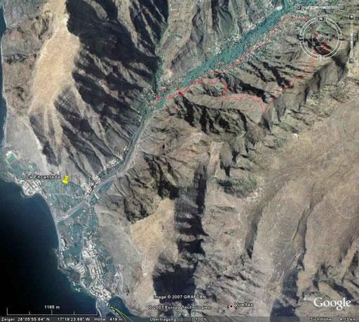 das Valle - da ist unser Haus   (Google Earth)