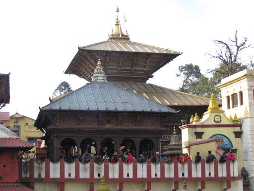 Rückseite des Tempels