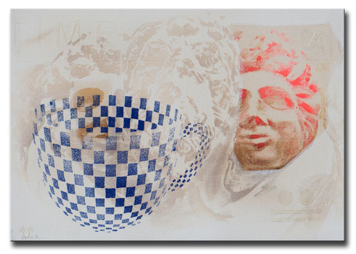 """Thomas Girbl """"Cup together""""  90x60cm 2014"""