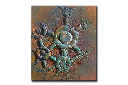 "Thomas Girbl ""foam green"" 38x44,5cm 2009"