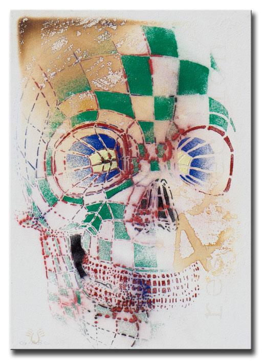 "Thomas Girbl ""Skull Methamorphosis"" 50x70cm 2014"