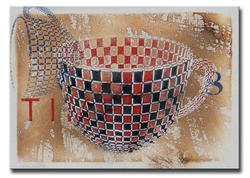 "Thomas Girbl ""Cup Roulette""  70x50cm 2014"