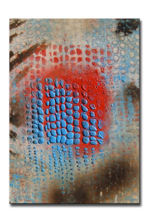 "Thomas Girbl ""black willow blue"" 50x70cm 2009"