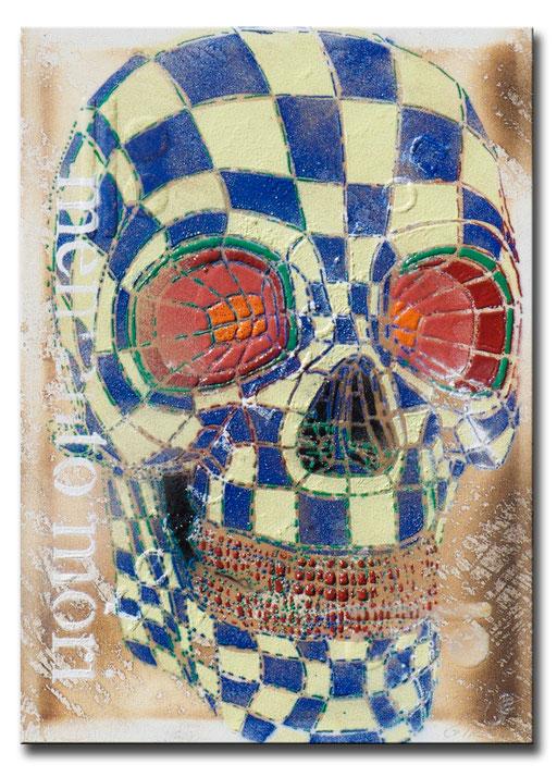 """Thomas Girbl """"Skull Passage"""" 120x160cm 2014"""