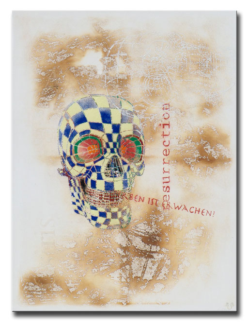 "Thomas Girbl ""Skull Resurection"" 120x160cm 2014"