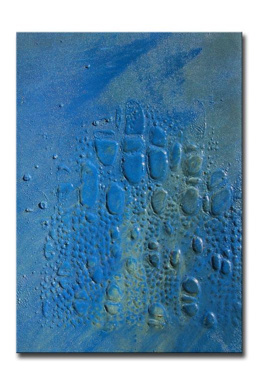 "Thomas Girbl ""eastern cotton wood blue 2"" 50x70cm 2009"