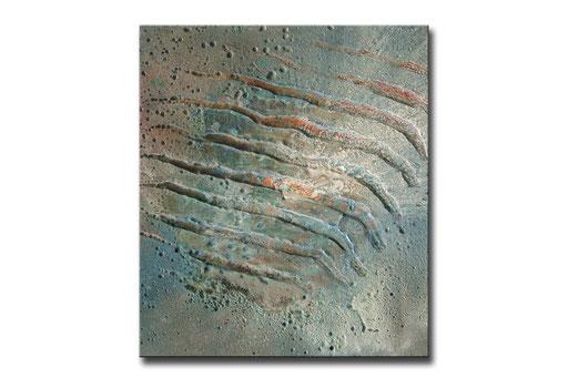 """Thomas Girbl """"ctenoid light green"""" 38x44,5cm 2009"""