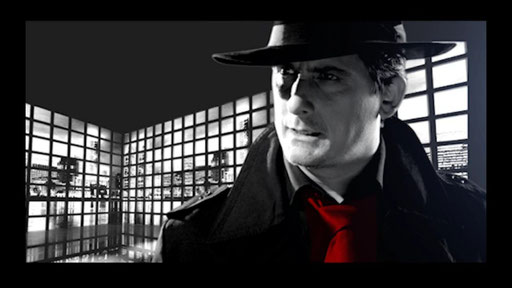 "Playing the lead role in the Award Winning Film Noir, ""Fach Trottel"""