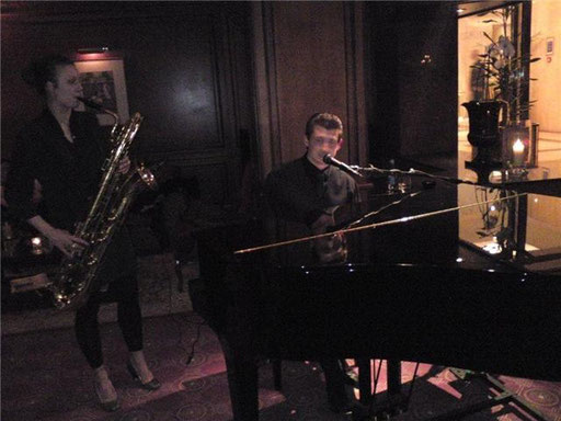 Performing at Long Bar in Melia White House, London
