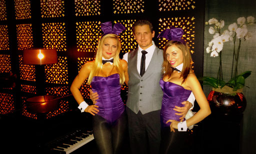 Performing at Salvatores at Playboy Club, London 2014