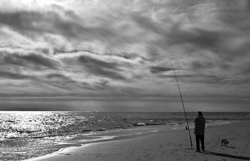 le caniche et le pêcheur