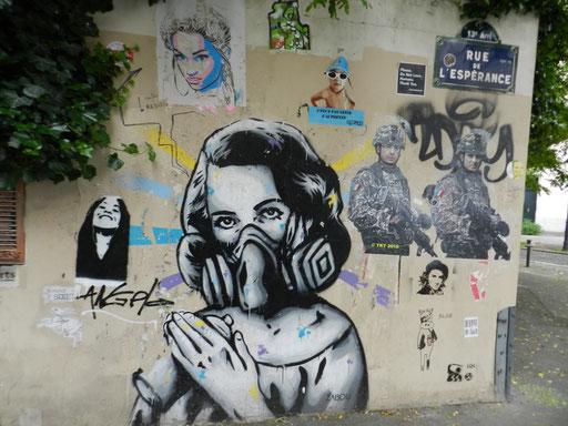 Zabou, rue de l'Espérence, 13e arrondissement
