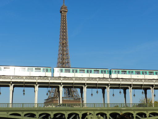 Eiffel Tower and Bir-Hakeim bridge