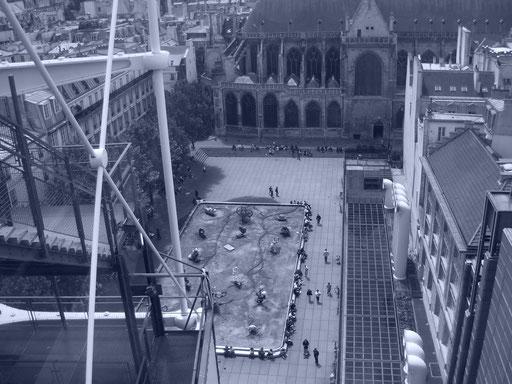 Fontaine Stravinsky depuis le Centre Pompidou