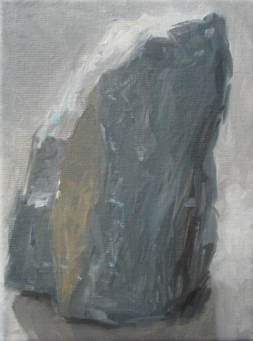 Steen uit 'Kleine reeks' - 2011 - 18 x 24cm - oil on canvas