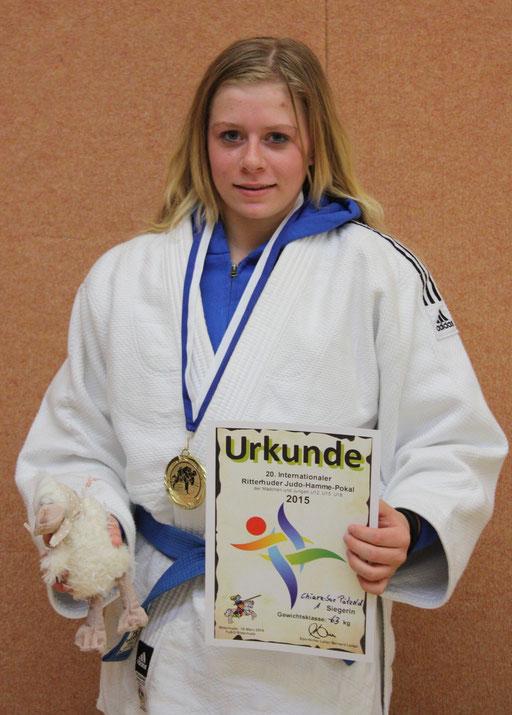 Die Goldmedaille als Lohn für den Einsatz – Chiara-Sue Pätzold.