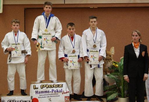 die Platzierten bis 55 kg, Johannes Koschel Platz 1.