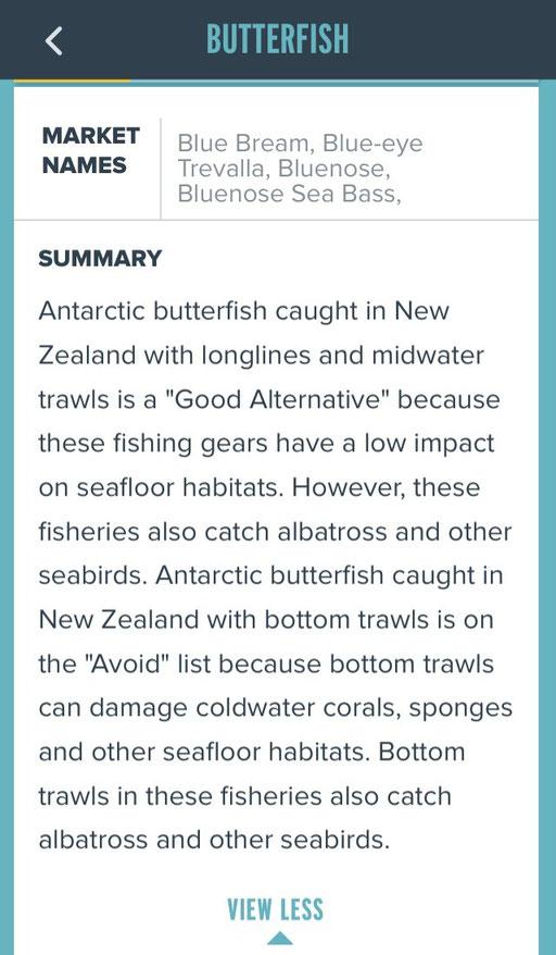 Seafood Watch Fischratgeber - mycleanlife