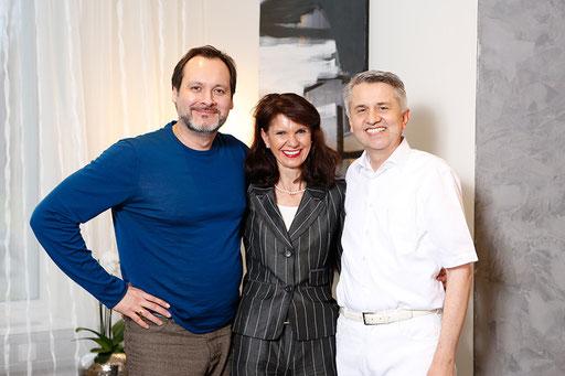 Frau Becker, Herr Dr. Becker und Opernsänger Askar Abdrasakov