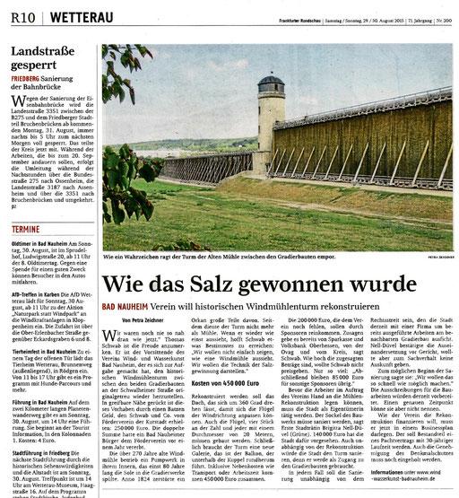 Frankfurter Rundschau, 29. August 2015