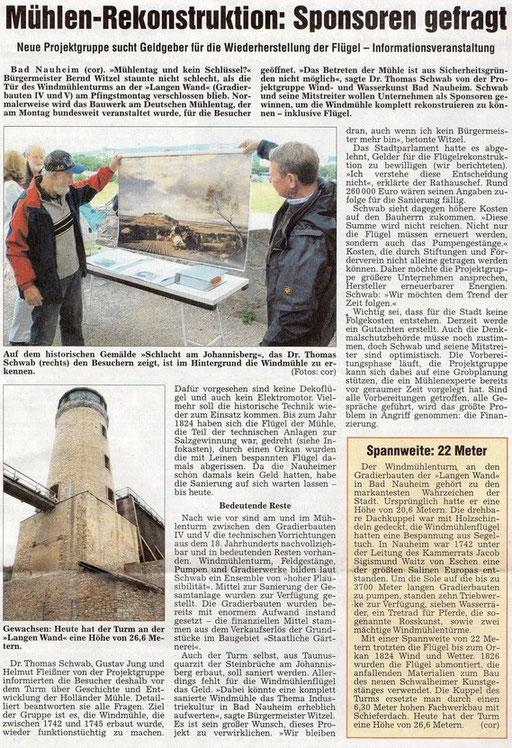 Wetterauer Zeitung, 16. Juni 2011