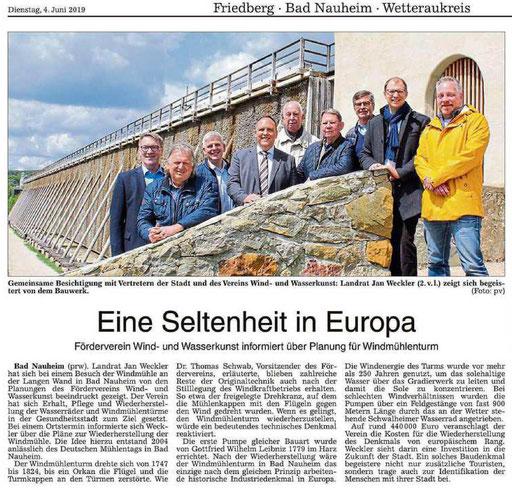 Wetterauer Zeitung, 04. Juni 2019
